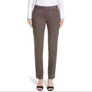 Lafayette 148 Irving Wool Ankle Pants Brown -8P